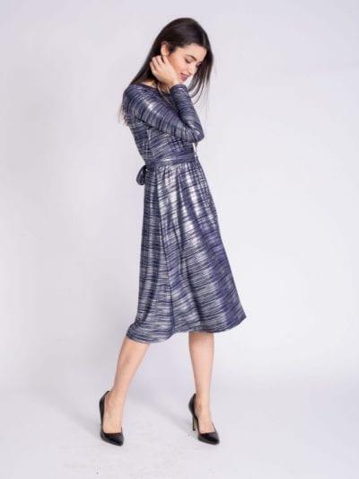 שמלת אמילי כחול כסף אלגנט