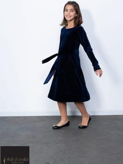 שמלת קטיפה כחול נייבי