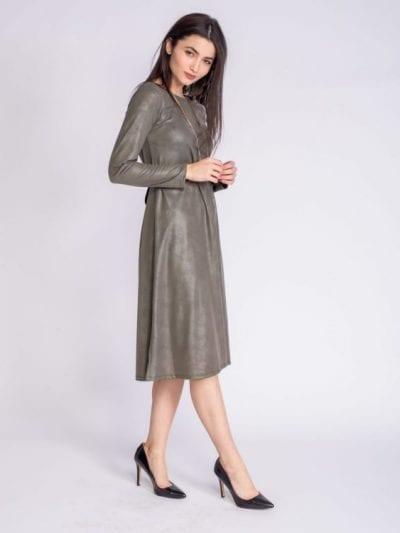 שמלת דמוי עור אלגנט