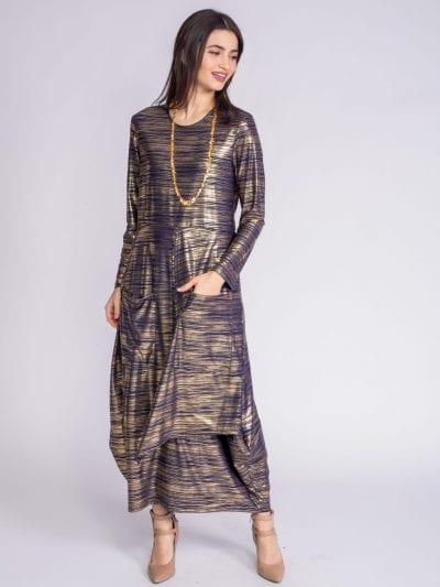 שמלת כיסים מקסי אלגנט