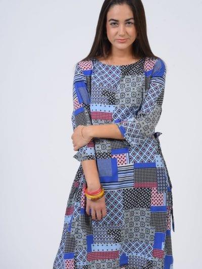שמלת רומי כחול עיתון