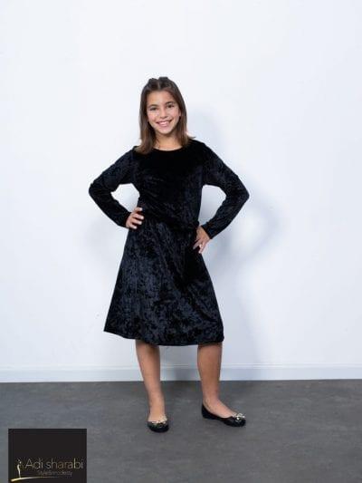 שמלת קטיפה שחור
