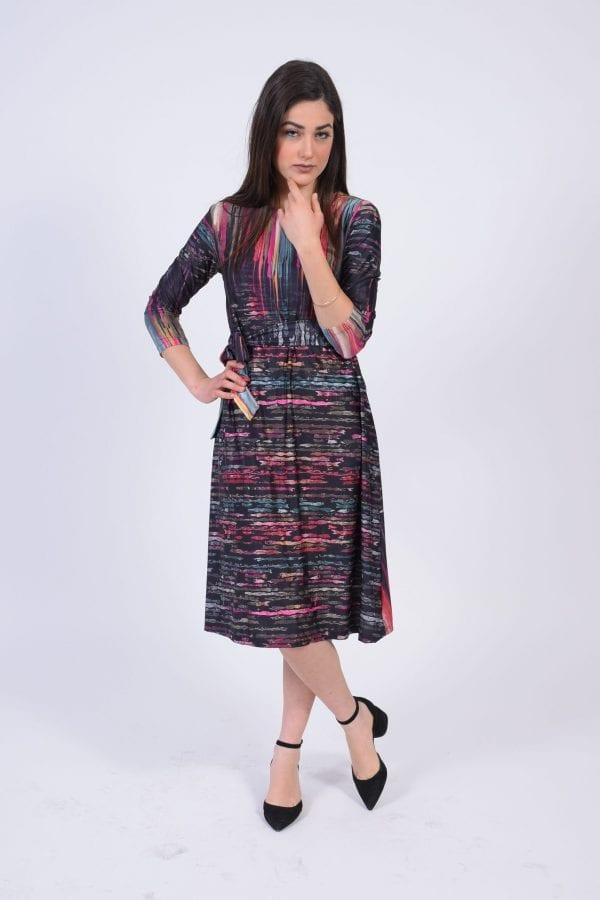 שמלת אמילי בד מודפס מודפס
