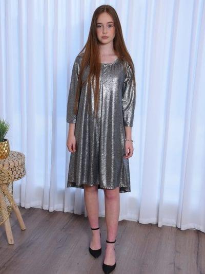 שמלת אריקה כסף כהה אלגנט