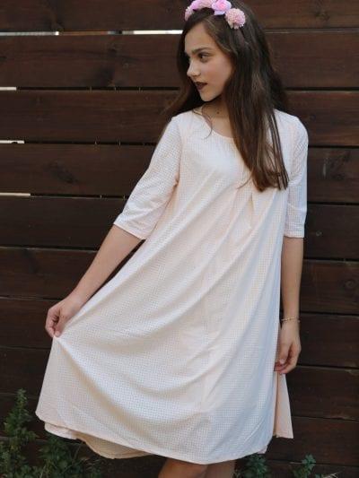 שמלת אריקה אפרסק בהיר