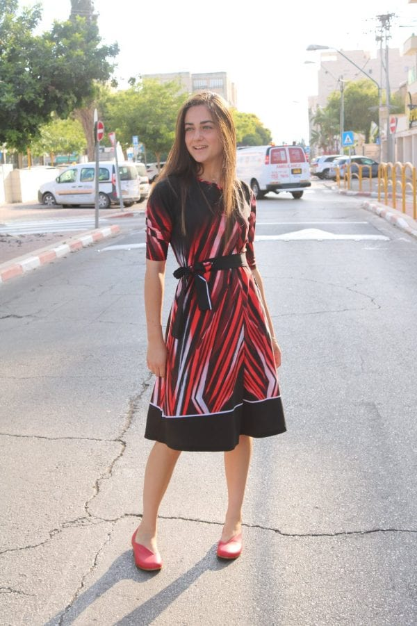 שמלת אמילי לייקרה מודפס.