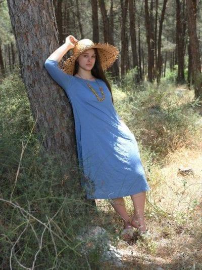 שמלת מלי צבע תכלת