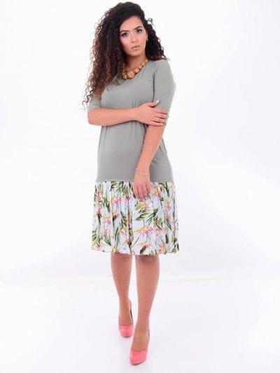שמלת וולן ירוקה